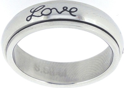 Faith Hope Love Spin Ring Size 9  -