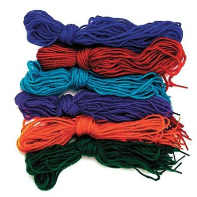 Tipped Yarn Laces, 6 sets of 12 laces   -