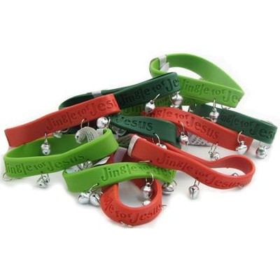 Jingle for Jesus Rubber Bracelets, Pack of 12   -