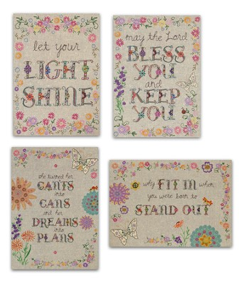 Handstitched Encouragement Cards, Box of 12    -     By: Lori Siebert