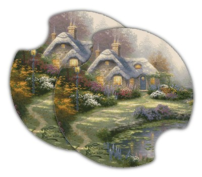 Thomas Kinkade Everett's Cottage, Car Cup Holder Stone  -     By: Thomas Kinkade