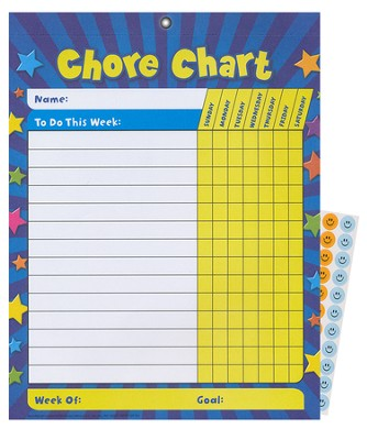 Basic Chore Charts (set of 25 with 175 stickers)   -
