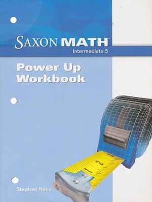 Saxon Math Intermediate 5 Power Up Workbook   -