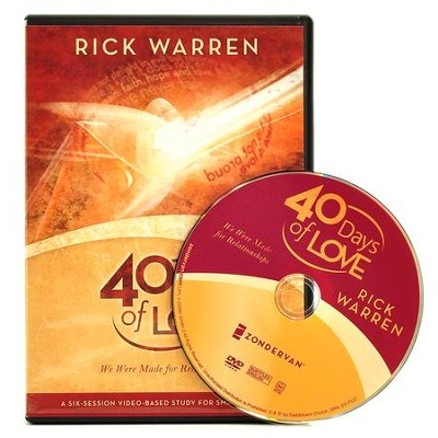 40 Days of Love: We Were Made for Relationships--DVD   -     By: Rick Warren