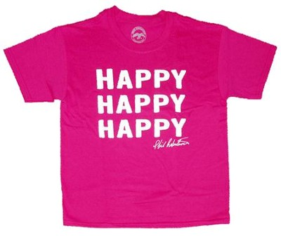 Happy Happy Happy Shirt, Heliconia, Youth Medium  -