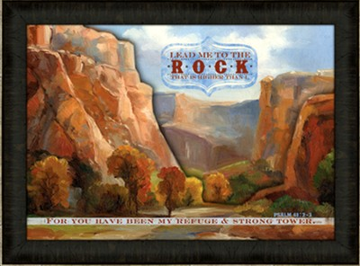 Lead Me To the Rock Framed Art  -