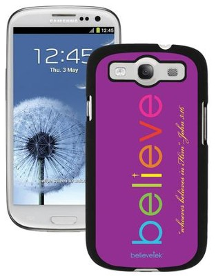 Believe Galaxy 3 Case, Purple  -