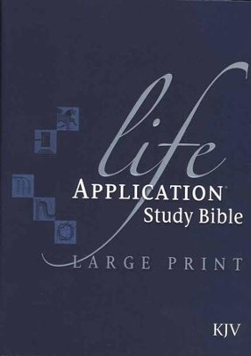 KJV Life Application Study Bible, Large Print, Hardcover, Thumb-Indexed  -
