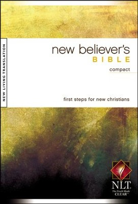NLT New Believer's Compact Bible, Softcover - Slightly Imperfect  -