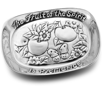 The Fruit of the Spirit is Patience, Metal Bread Tray  -