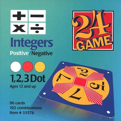 24 Game: Integers (96 Cards)  -
