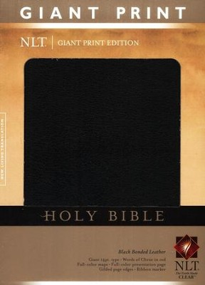 NLT Holy Bible, Giant Print Black Bonded Leather, Thumb-Indexed   -