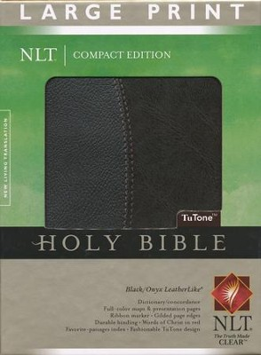 NLT Large Print Compact Edition, Black and Onyx Imitation Leather, Thumb-Indexed  -
