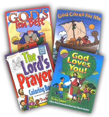 Shirley Dobson Coloring Set, 4 Books   -