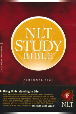NLT Study Bible, Personal Size Hardcover  -
