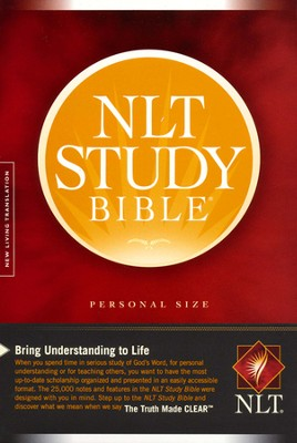 NLT Study Bible, Personal Size Softcover  -