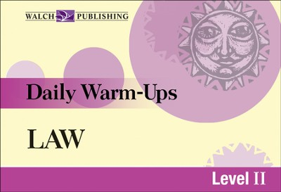 Digital Download Daily Warm-Ups: Law Level II - PDF Download  [Download] -