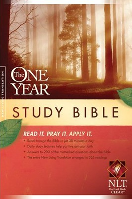 The NLT One Year Study Bible, Softcover  -