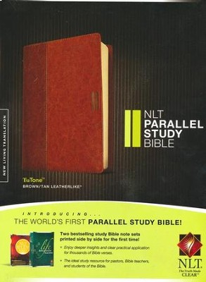 NLT Parallel Study Bible, TuTone Brown / Tan Imitation Leather  -