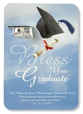 Graduate, Lapel Pin On Keepsake Card  -