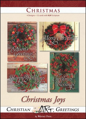 Christmas Joys, Box of 12 Christmas Cards  -