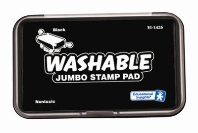 Black Jumbo Washable Stamp Pad   -