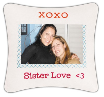 Sister's Love Photo Pillow  -