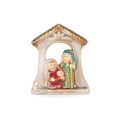 Glazed Porcelain Nativity Ornament   -