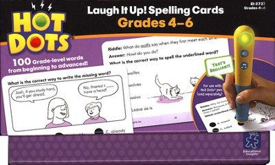 Hot Dots Laugh It Up! Spelling, Grades 4-6   -