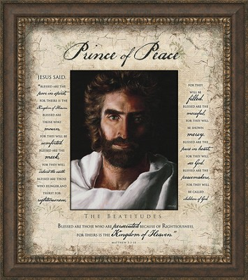 Prince Of Peace, Beatitudes, Framed Art  -     By: Akiane Kramarik