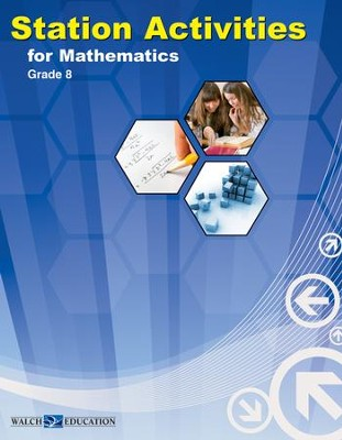 Digital Download Station Activities for Math, Grade 8 - PDF Download  [Download] -