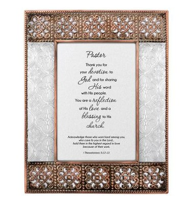 Pastor, Thank You for Your Devotion Framed print