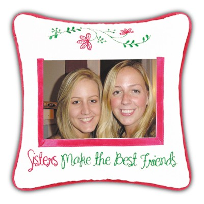 Sisters Make the Best Friends Photo Pillow  -