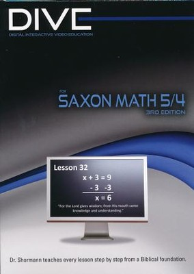 Saxon Math 54 3rd Edition DIVE CD-Rom  -