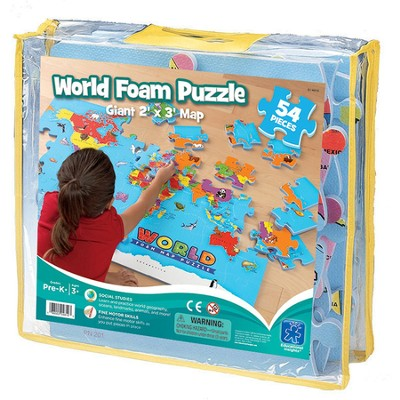 World Foam Map Puzzle   -