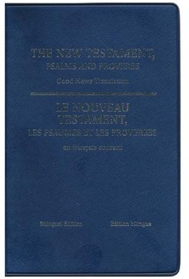 French/English (GNT) New Testament with Psalms and Proverbs--imitation leather, blue  -