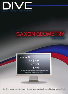 Saxon Geometry 1st Edition DIVE CD-Rom  -