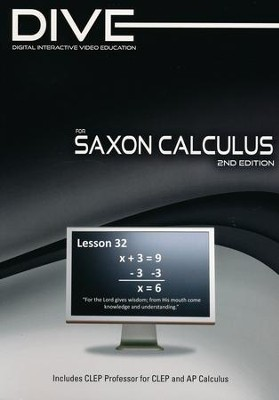 Saxon Math Calculus 2nd Edition DIVE CD-Rom  -