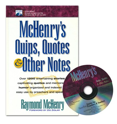 McHenry's Quips, Quotes & Other Notes, Book and CD Slightly  Imperfect  -