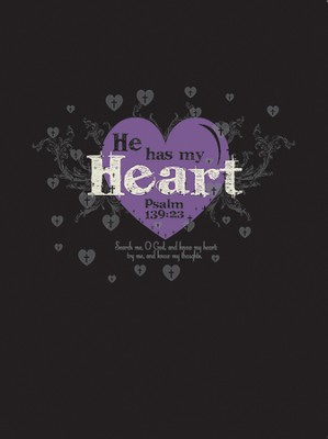 He Has My Heart Spiral Notebook  -
