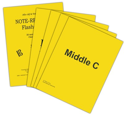 Note Reading Classroom Flash Cards - Alto & Tenor Clef  -