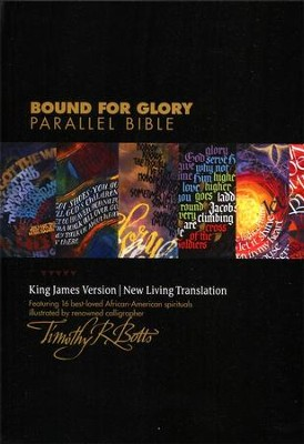 NLT/KJV Bound for Glory Parallel Bible, TuTone Ebony/Tapestry Imitation Leather  -