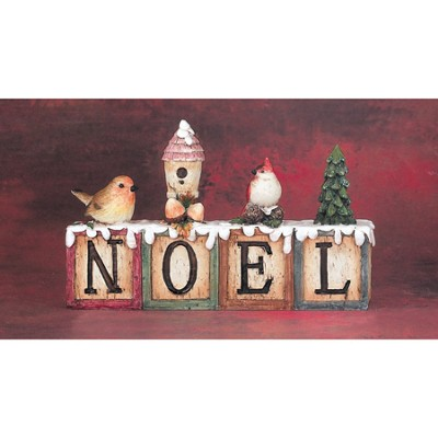 Noel Figurine with Birds  -
