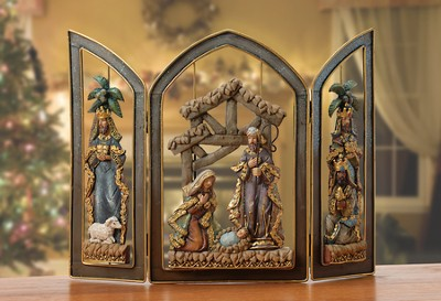 Hinged Nativity Screen  -