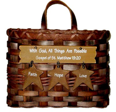 With God All Things Are Possible, Mail Basket   -