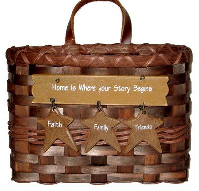Home is Where Your Story Begins Mail Basket  -