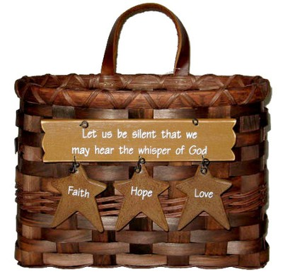 Let Us Be Silent That We May Hear the Whisper Mail Basket  -