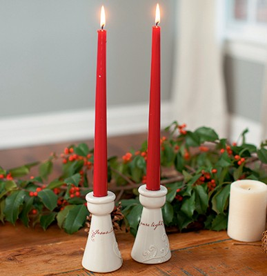 Jesus, Love's Pure Light, Christmas Candleholders, 2   -