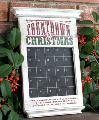 Countdown to Christmas Advent Chalkboard Calendar  -