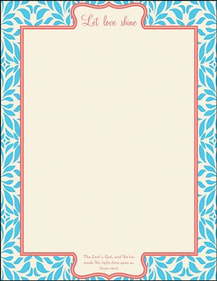 Let Love Shine Stationery, Pack of 50  -